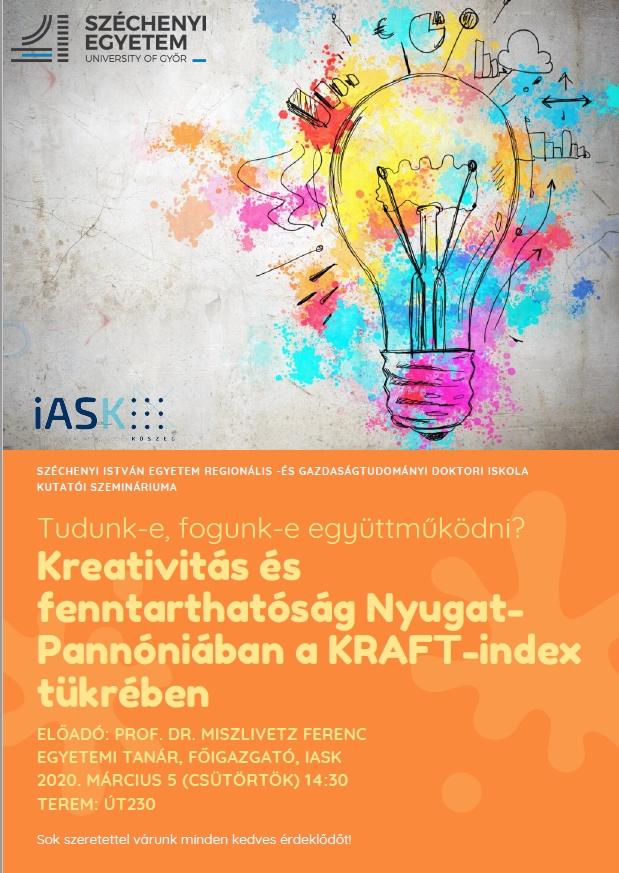 Kutatói szeminárium a Regionális- és Gazdaságtudományi Doktori Iskolában 2020. március 5.