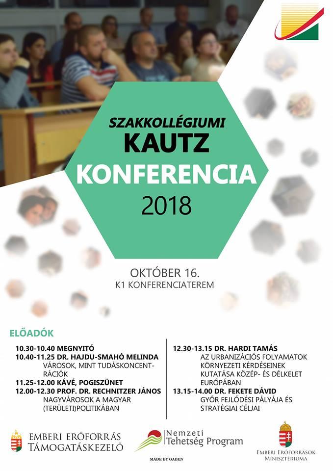 Meghívó Kautz Szakkollégiumi Konferenciára 2018. október 16.